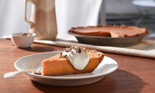 Fluffy Sweet Potato Bourbon Pie