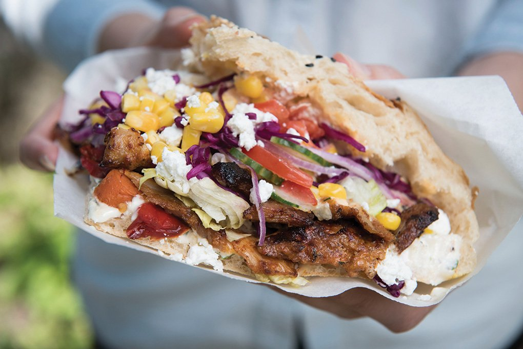 Showcasing the potential with this sandwich, Kotti Berliner Döner Kebab in New York serves the Kotti Special: marinated chicken with vegetables, tucked into a Turkish pide, with a choice of herb, lemon, garlic or harissa-style chile sauce.