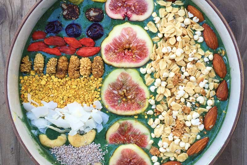 White beans bring a savory richness to this smoothie bowl base.