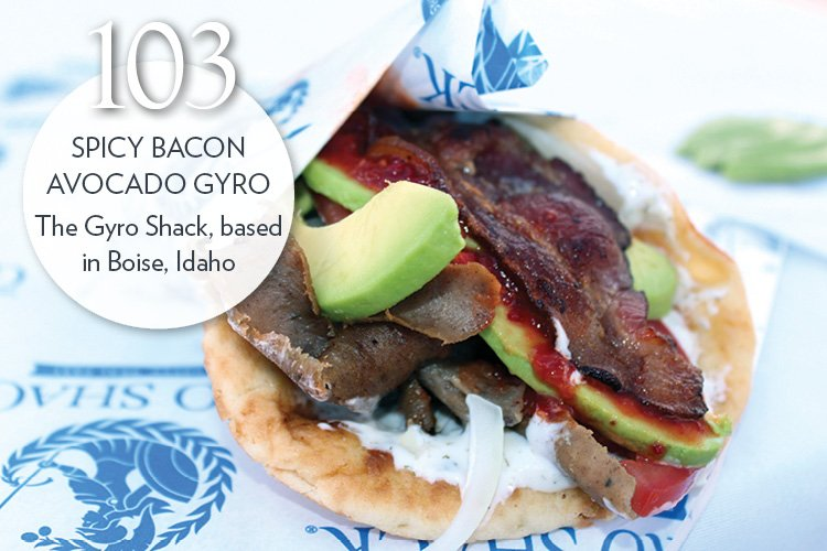 Spicy Bacon Avocado Gyro