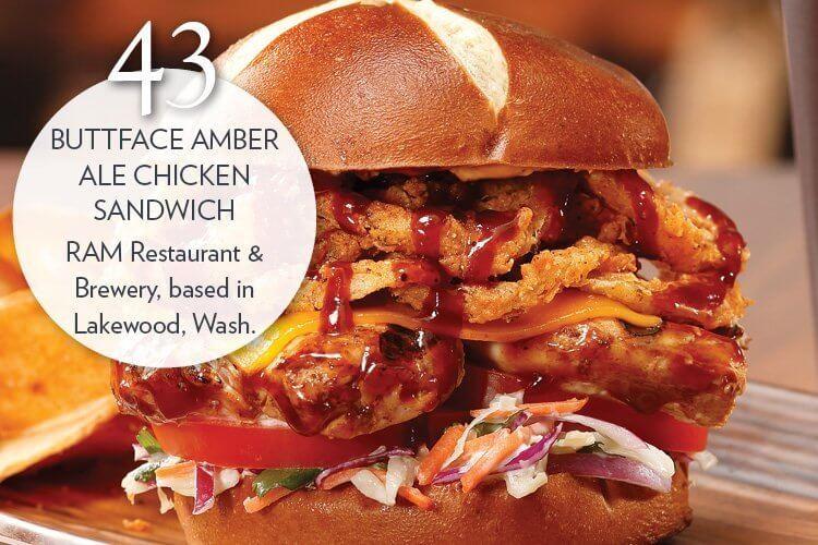 Buttface Amber Ale Chicken Sandwich