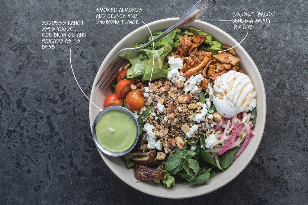 Denver's Vital Root menus a Cobb salad that fits its vegetarian sensibility while still delivering on the promise of that popular flavor system.