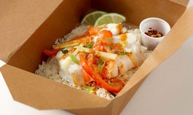"Thai Curry ""Quick"" Alaska Cod with Instant Basmati Rice"