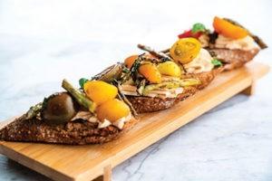 Grilled Asapargus Bruschetta