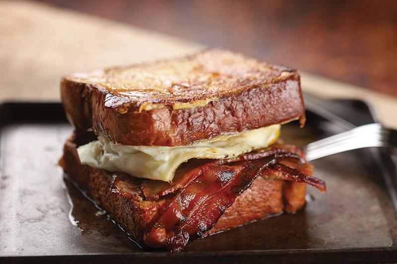 Maple Bacon French Toast Breakfast Sandwich