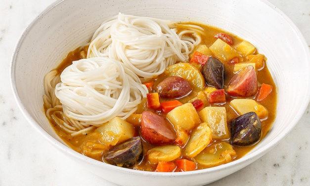 Idaho® Potato Curry and Noodles
