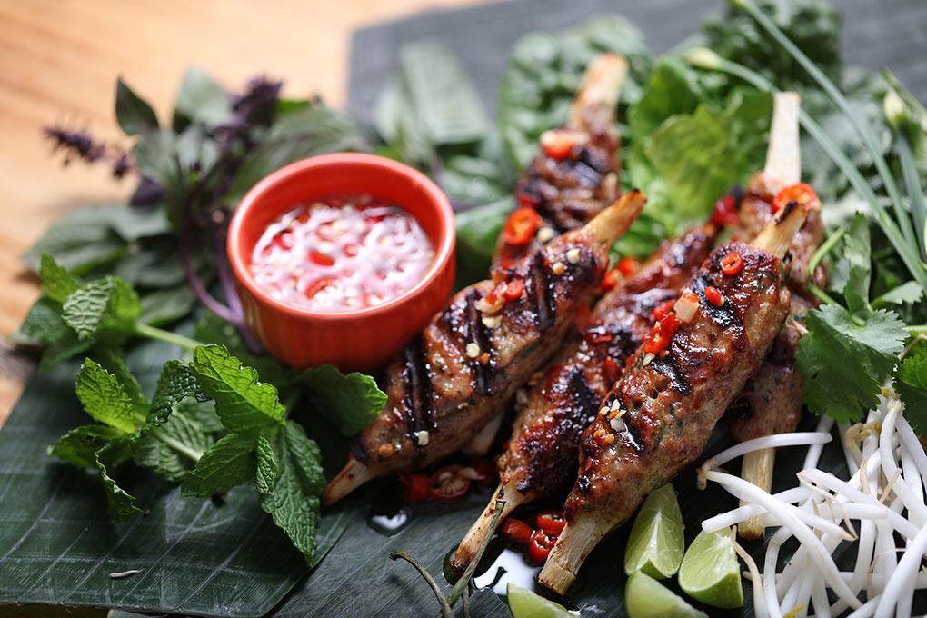 Vietnamese Pork Sausage Skewers