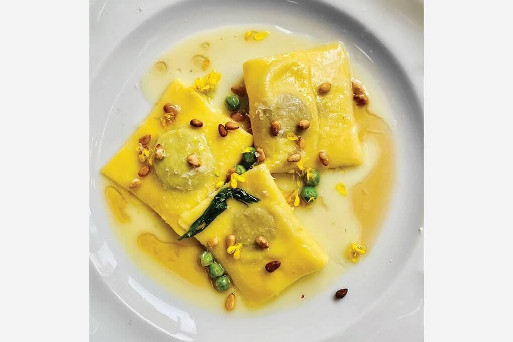 Picture for Chicken Liver and Spring Pea Ravioli Doppio